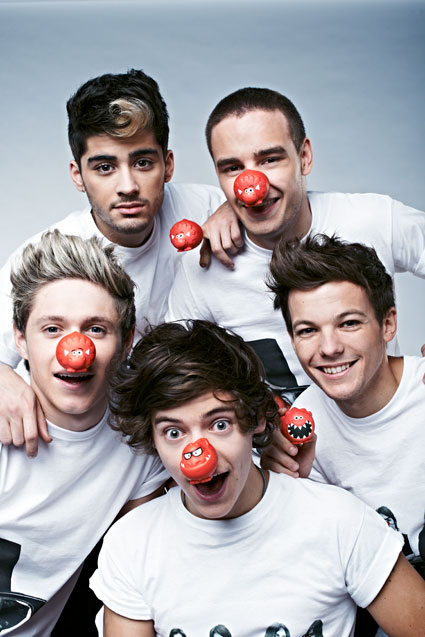 one direction comic relief red nose day