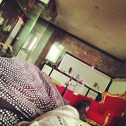 chris brown instagram bed rihanna