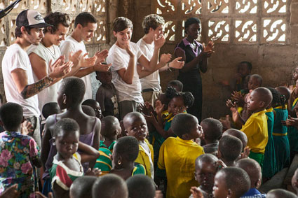 one direction in ghana for red nose day