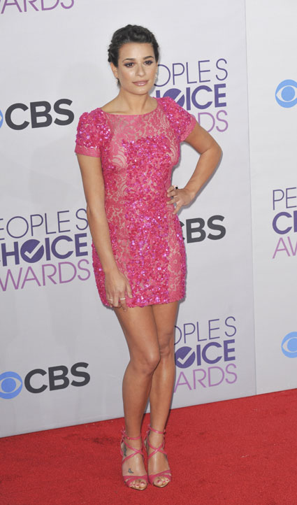 lea michele glee people's choice awards 2013