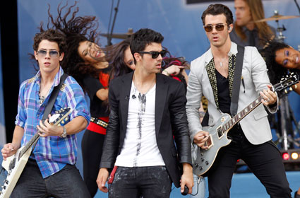 The Jonas Brothers are supposedly being sued by a fan 'crushed' at a LA show at The Grove back in May 2010