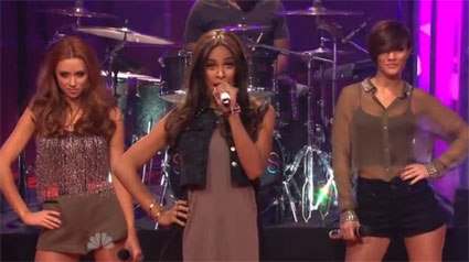 The Saturdays perform new single What About Us on the Jay Leno show ahead of Chasing the Saturdays premiere - VIDEO