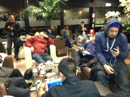 rihanna 777 tour airport waiting
