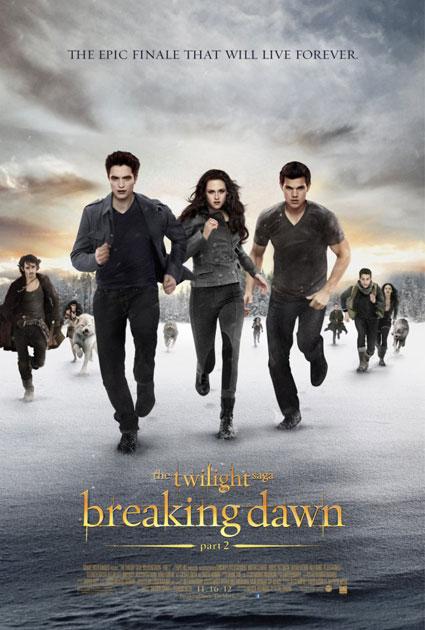 twilight saga breaking dawn part two poster jacob bella and edward