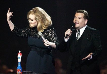 adele speech cut off brit awards 2012