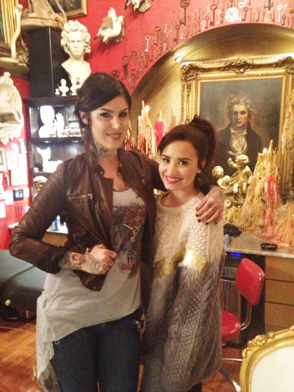 demi lovato and kat von d tattoo