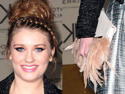ella henderson hair plait and feathery bag the x factor