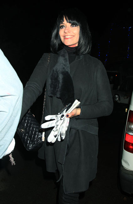 holly willoughby black hair halloween party