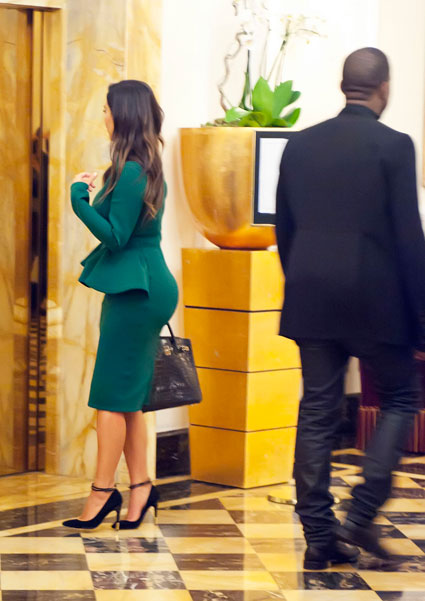 kim kardashian kanye west date in rome hotel lobby