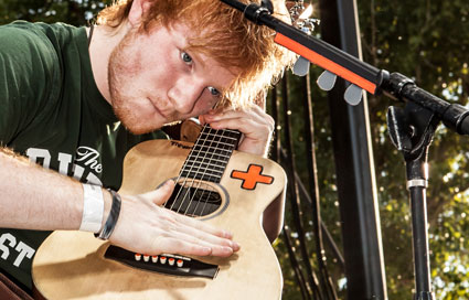 Ed Sheeran plays the Bite of Las Vegas festival and looks fit while he does it