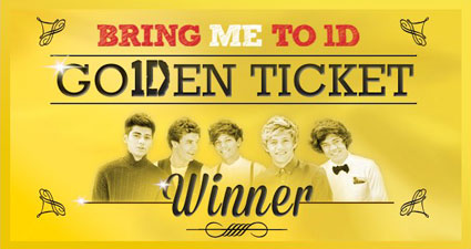 One Direction launch Bring Me To 1D Golden ticket competition - UK leg open now!