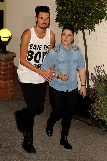x factor contestants leave the ITV studios - Uion J, District3, Rylan clark and Lucy Spraggan