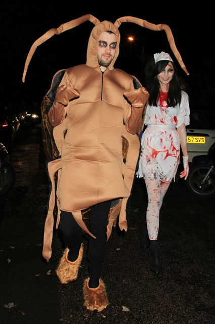 Jack Whitehall dressed us as a cockroach for Halloween