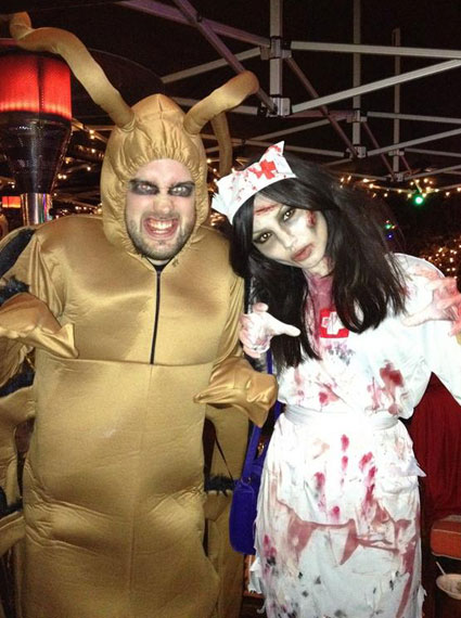 Jack Whitehall and girlfriend Gemma Chan head to Jonathan Ross's Halloween bash