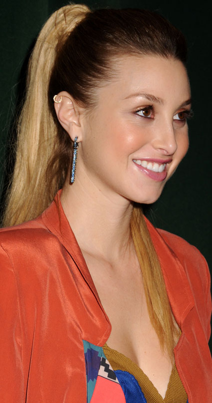 whitney port hair ombre. Working a high pony, Whitney