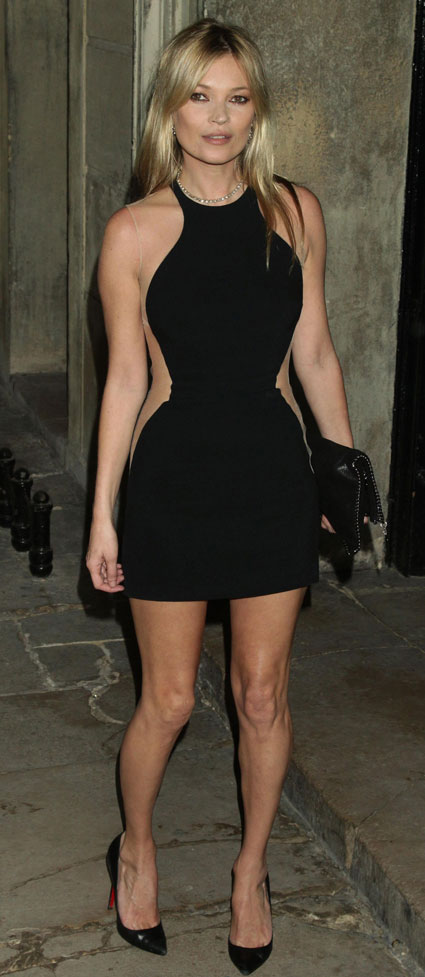 GET HER LOOK: Kate Moss' optical illusion dress.