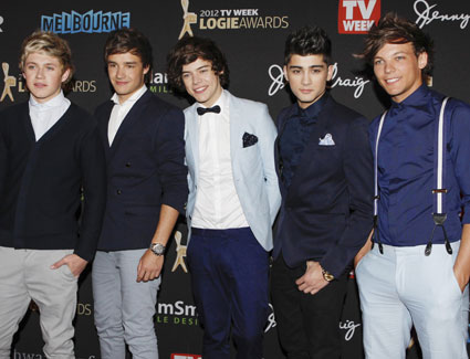 one direction at the logies 2012