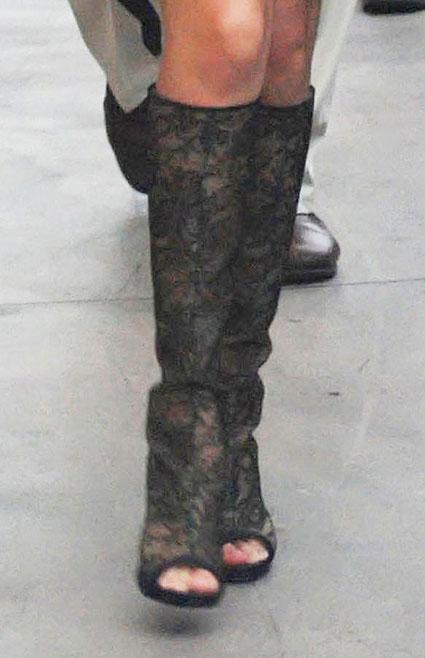 selena gomez knee high boots