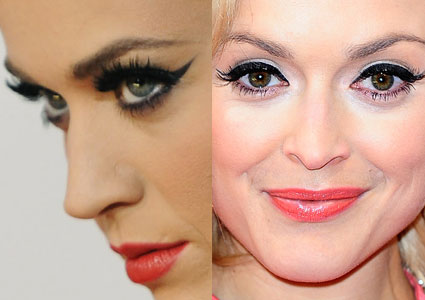 katy perry and fearne cotton eye flicks