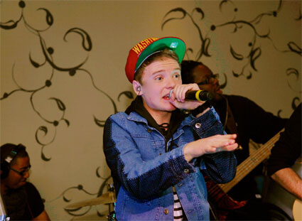 Conor Maynard launches Can't Say No at a London Nando's