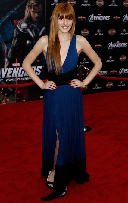 Bella Thorne at the Marvel Avengers Assemble premiere in Hollywood