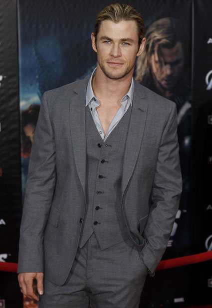 Chris Hemsworth at the Avengers Assemble premiere in Hollywood