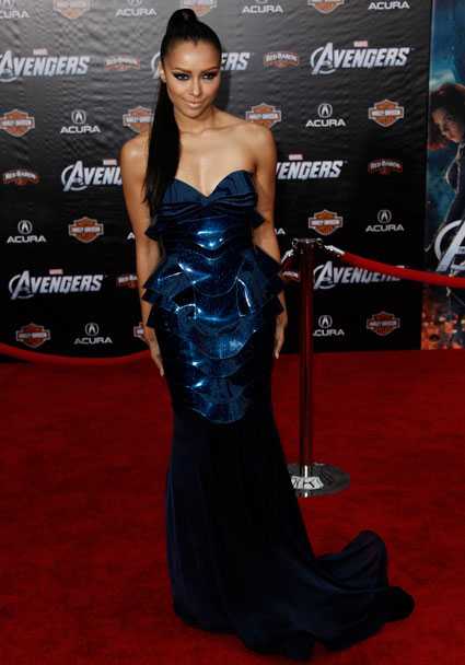 Kat Graham at the Marvel Avengers Assemble Premiere in Hollywood