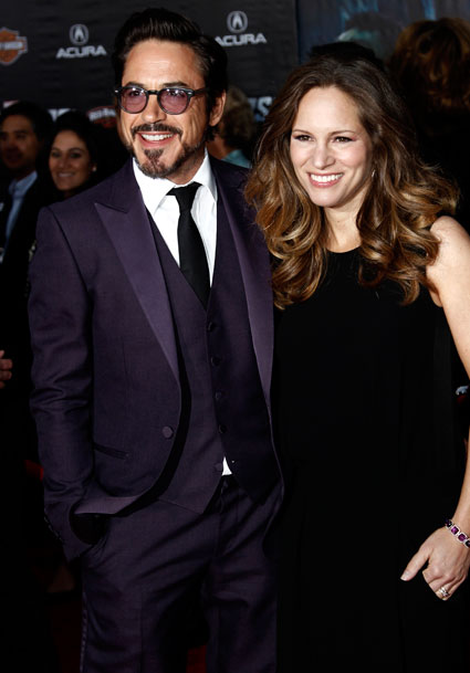 Robert Downey Junior at the Hollywood Premiere of Marvel Avengers Assemble