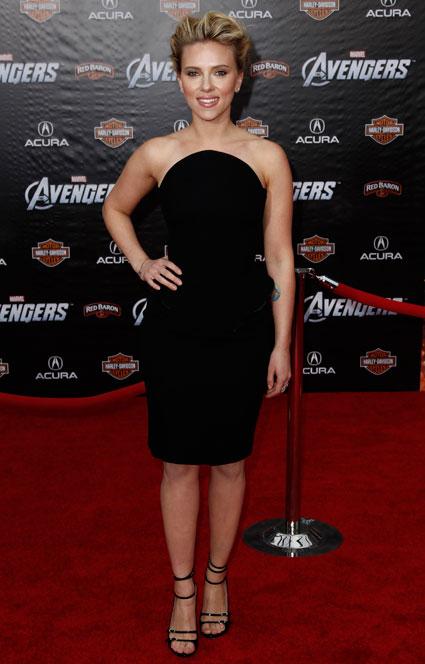 Scarlett Johansson at the Marvel Avengers Assemble Premiere in Hollywood