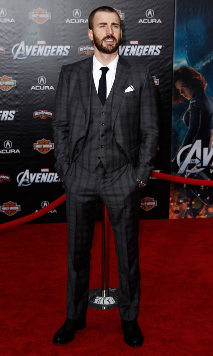 Chris Evans at the Avengers Assemble Premiere in Hollywood
