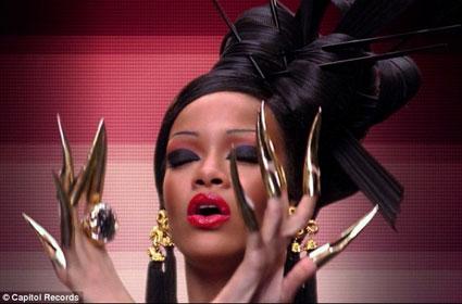 Rihanna in the Coldplay Princess of China Video