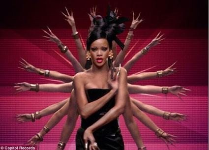 Rihanna in Coldplay Princess of China video