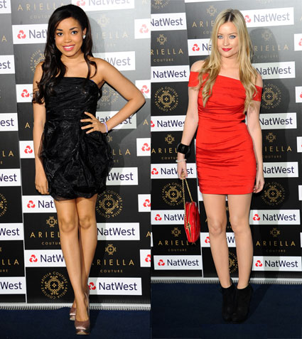 Dionne Bromfield and Laura Whitmore at the Ariella Couture Fashion Show