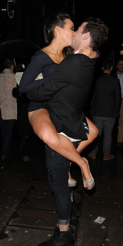 Steph Davis flashing her whole bum at National Soap Awards after-party