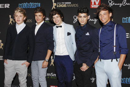 One Direction attend the Logie awards in Melbourne, Australia.