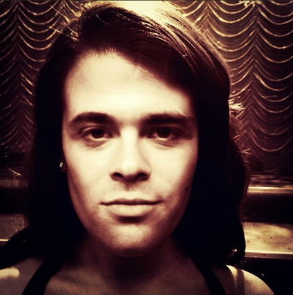 Mark Salling Glee on the face of a lady