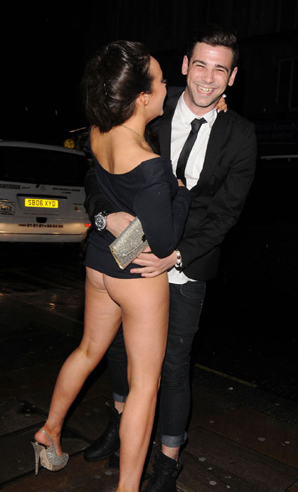 stephanie davis flashing bum at national soap awards after-party