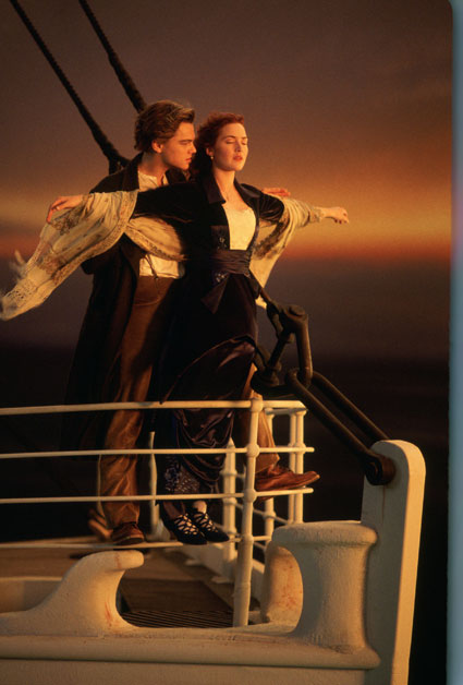 Leonardo DiCaprio and Kate Winslet in Titanic