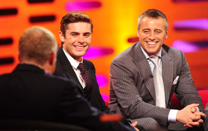 Zac Efron and Matt LeBlanc on the Graham Norton Show