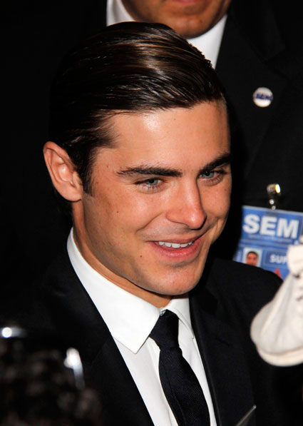 Zac Efron at the LA Premiere of The Lucky One