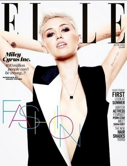Miley Cyrus covers ELLE UK for May 2013 - pics