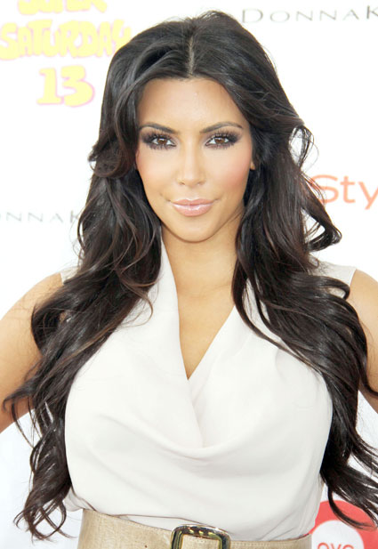 Do you prefer Kim Kardashian with or without a fringe? Comments, please.