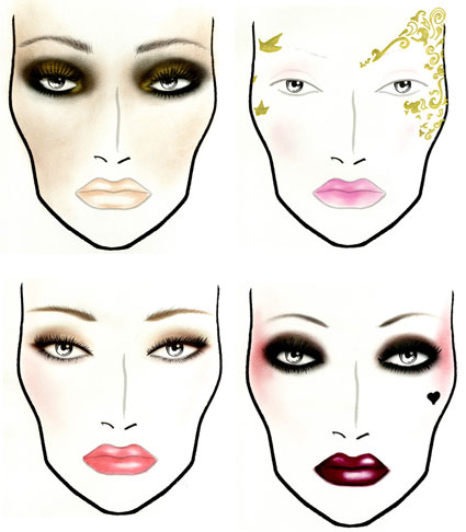 How to draw makeup