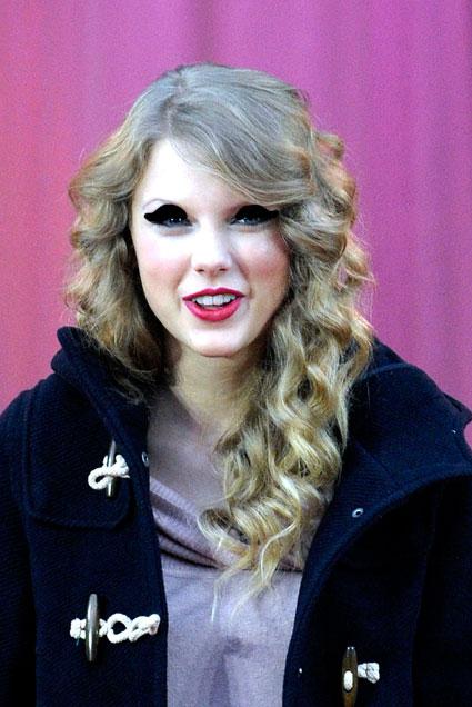 taylor swift eyeliner. We#39;ve Sharpied Taylor up so