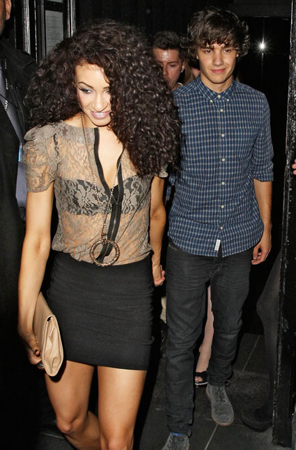 Liam Payne and Danielle Peazer on night out