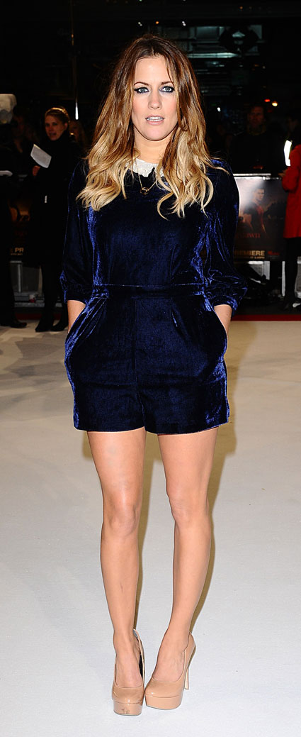 caroline flack at twilight premiere on red carpet