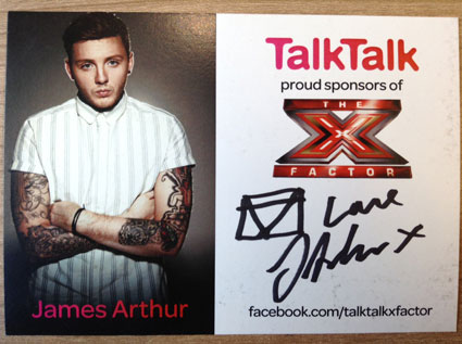 james arthur autographed pants