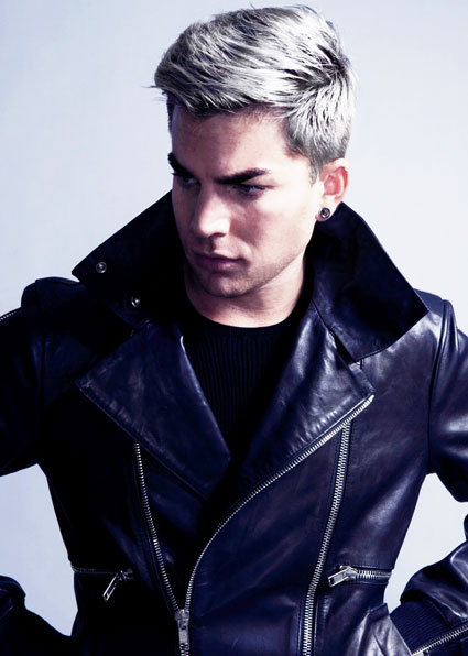 pics for gt adam lambert silver hair