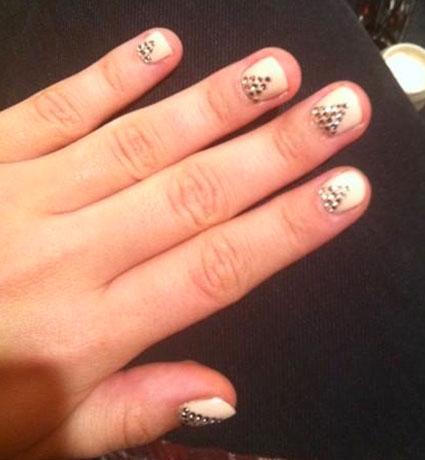 demi lovato nail art studs