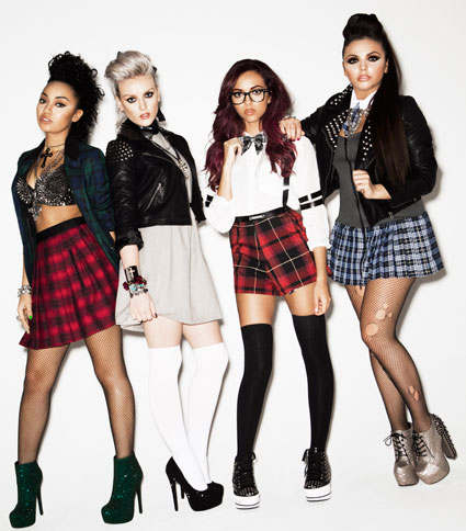 little mix styled as schoolgirls for notion magazine